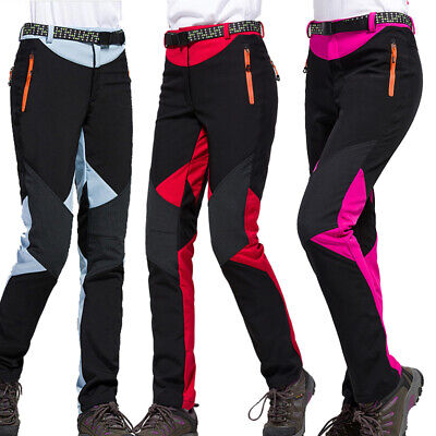 NEW Women Waterproof Breathable Soft Shell Outdoor Hiking Climbing Trousers