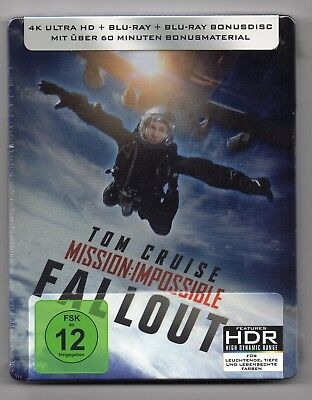 Mission: Impossible - Fallout - 4K UHD - Blu-ray Steelbook - NEW / SEALED - ABC