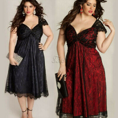 Lace Bridesmaid Dress Plus Size Gothic Evening Party Cocktail Formal Prom Dress