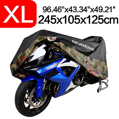 XL Camouflage Motorcycle Cover 190T Waterproof For Harley Road Touring Street