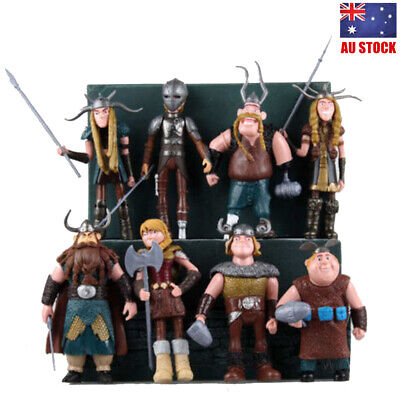 How to Train Your Dragon Hiccup Astrid Stoick Action Figures Doll Toy Gift 8 PCS