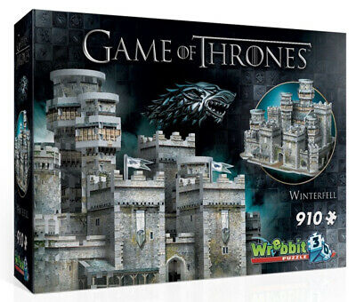 Wrebbit Game of Thrones Winterfell 910 Pieces 3D Puzzle NEW