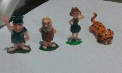 Marx Vintage Tinykins Hanna-Barbera,1961 Flintstones Set, of 4 Figurines