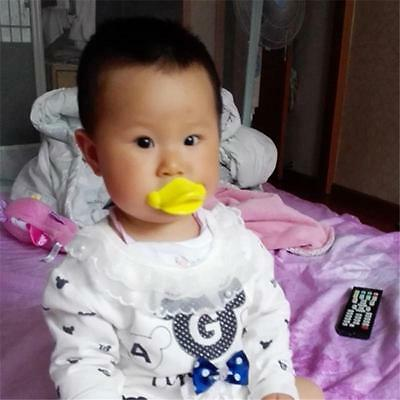 Funny Dummy Dummies Pacifier Novelty Baby Child Soother Lips Duck Mouth HZ