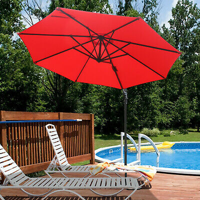 10' CANTILEVER PATIO Offset Umbrella Replacement Canopy Parasol Top