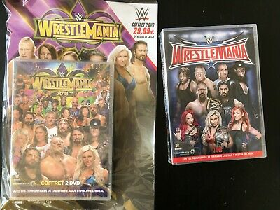Dvd De Catch Wwe Neuf Wrestlemania 32 Et 34 En Francais