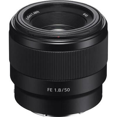 Sony FE 50mm F/1.8 Lens for E-Mount Cameras With Free Accessory Bundle