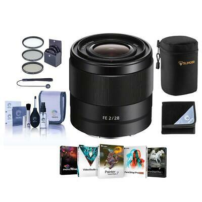 Sony FE 28mm f/2 E-Mount Lens with Free Accessory Bundle #SEL28F20 NK