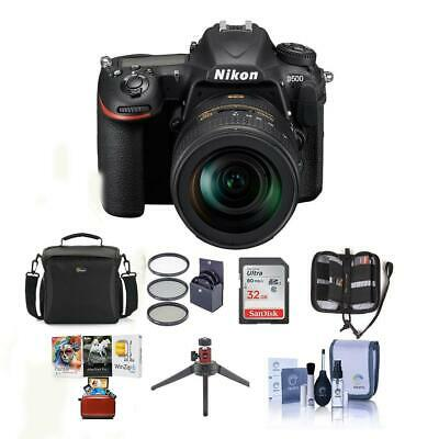 Nikon D500 DSLR Body with 16-80mm ED VR Lens and Free Mac Accessory Bundle