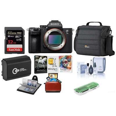 Sony Alpha a7 III 24MP UHD 4K Mirorless Camera(Body) W/Free Mac Accessory Bundle