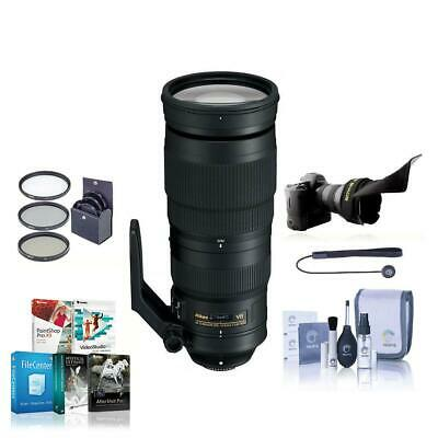 Nikon 200-500mm f/5.6E ED AF-S VR Zoom NIKKOR Lens, USA w/Free Accessory Bundle