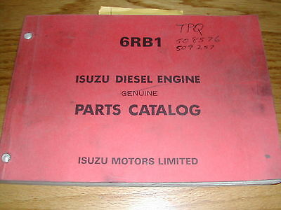 ISUZU 6RB1 PARTS CATALOG MANUAL BOOK ENGINE DIESEL GUIDE SPARE PART LIST ESP 123