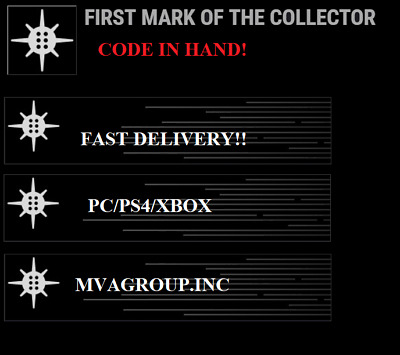 Destiny 2 First Mark of the Collector emblem - INSTANT DELIVERY 24/7 GUARANTEED!