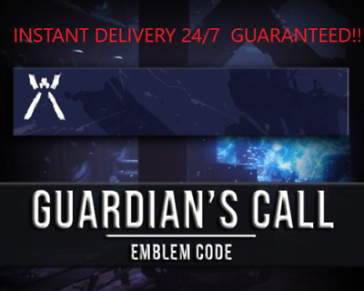 Destiny 2 Guardian's Call Emblem Code - Instant Delivery 24/7 (PC/PS4/XBOX)