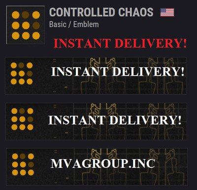 Destiny 2 Controlled Chaos Emblem Code - Instant Delivery 24/7(PC/PS4/XBOX)