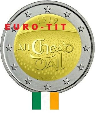 2 €   IRLANDE  COMMEMORATIVE   2019      1  X  PIECE  NEUVE   2019    disponible