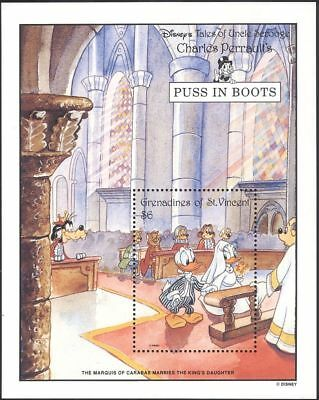 Grenadines of St Vincent 1992 Disney/Puss in Boots/Tales/Cartoons 1v m/s n19082e