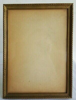 CADRE Ancien BRONZE Dore XIXe 19e Style LOUIS XVI Photo Picture Frame Art C8