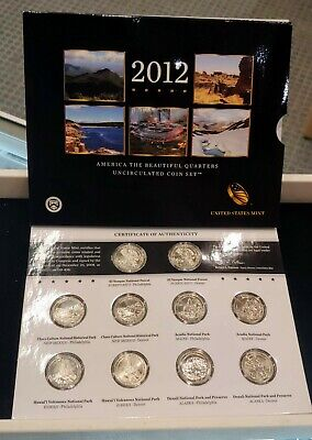 2012 America the Beautiful Quarters Uncirculated Coin Set - United States Mint