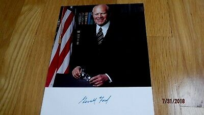 President GERALD FORD Signed 8x10 Photo -Guaranteed Authentic