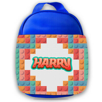 Personalised Lego Kids Lunch Bag Any Name Childrens Boys School Snack Box
