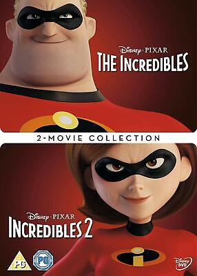 Incredibles 1-2 [DVD]  Box Set-  1&2 Movies - New & Sealed - Fast & Free Postage