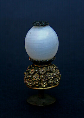 Antique Chinese Mandarin Hat Knop Button Peking Glass Rank Finial