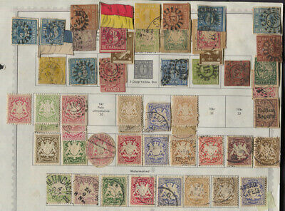 Bavaria Bayern Mixed Lot Mint / Used to around 1872 - Unchecked