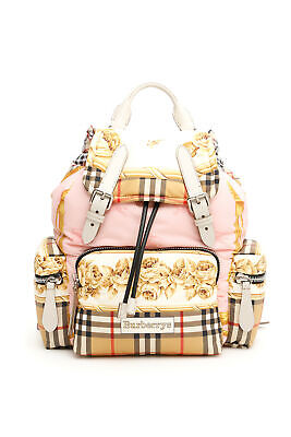 51277bdebfdd BURBERRY backpack The Medium Rucksack with archive pattern silk 4078769