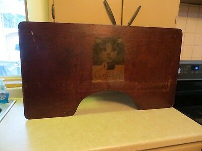 Corticelli Spool Silk Thread Advertising Double Sided Lap Desk Wood Sign Now