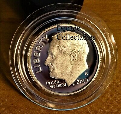 2019 S Silver 10C PROOF Roosevelt Dime Deep Cameo **Presale** Early Strike
