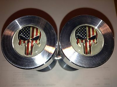 """Two hole pins Standard size Punisher Puerto Rico Flag 1//2/"""" to 1-5//8/"""""""