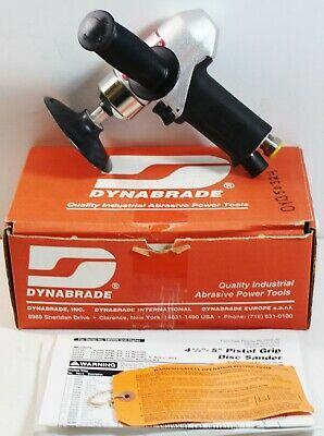"Dynabrade 50324 4"" Pistol Grip 7 HP Disc Sander Rear Exhaust Gearless"