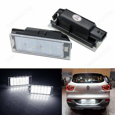 Renault LED Licence Number Plate Light Lamp Clio Twingo Megane Laguna No Error
