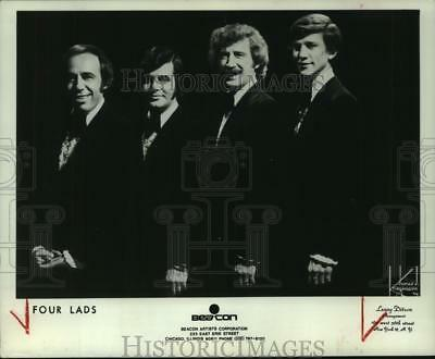1973 Press Photo Members of the vocal music quartet called The Four Lads