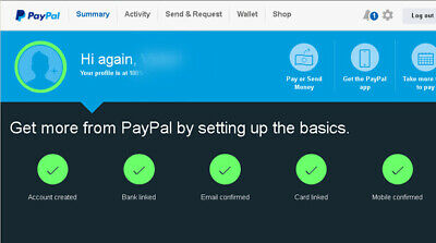 USA 100% verified Personal lifted PayPal Account.