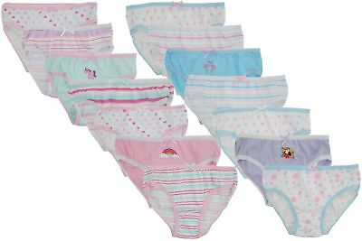 Tom Franks Girls 7 Pairs of Knickers in Assorted Designs