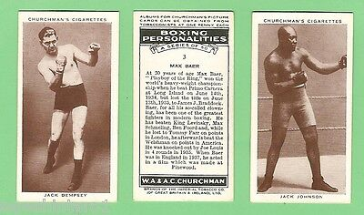 #gg.  Set(50) Of 1938 Boxing Personalities  Churchman Cigarette Cards