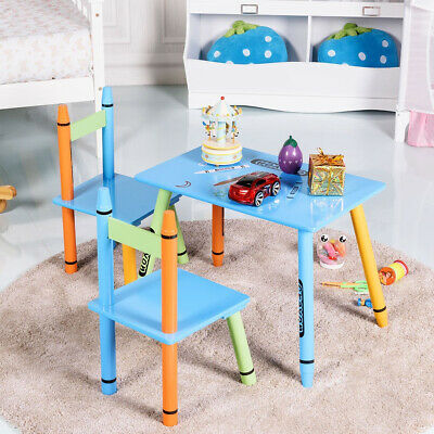 Sensational 3 Pcs Playroom Crayon Kids Table And Chairs Set 54 98 Ocoug Best Dining Table And Chair Ideas Images Ocougorg