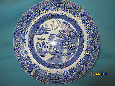Blue Willow Plate - 8 Inch - With Hanger - W.r. Midwinter, England