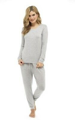 Ladies Soft Touch Top & Pants Pyjama Set, Lounge PJs Nightwear, Size 8-22