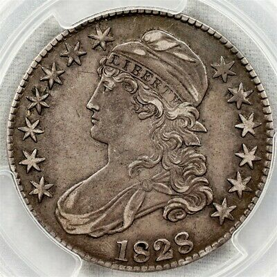 1828 Capped Bust Half Dollar, Overton O-116 -PCGS XF45-Sq. Base Sm. 8-CAC Cert
