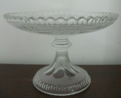Victorian 1868 MOLINEAUX WEBB Mancester glass PEDESTAL BOWL registration loz