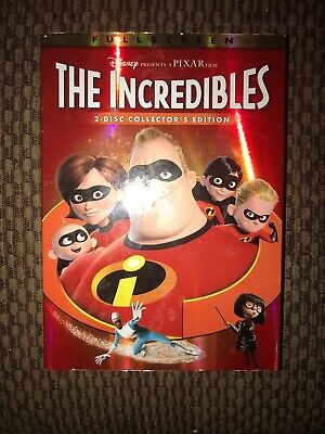 Disney The Incredibles (Dvd, 2003) 2-Disc Collectors Edition Slipcover Dvd Guide