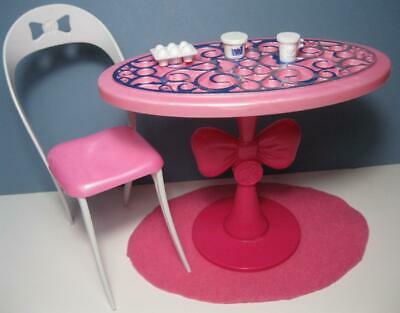 Barbie Doll Furniture Dream House Glam Dollhouse Dining Room