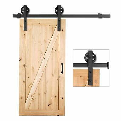 6.6 FT Heavy Duty Rail Sliding Barn Door Hardware Kit, Super Smoothly and Quiet