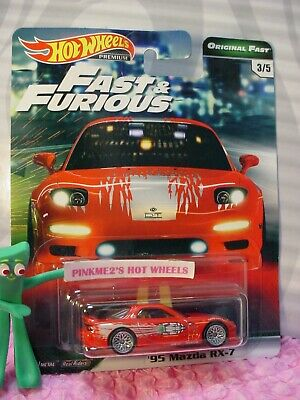 '95 MAZDA RX-7 #3/5☆red;real riders☆2019 Hot Wheels PREMIUM B, FAST&FURIOUS