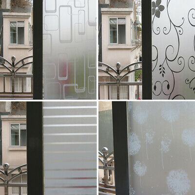 3m Privacy White Frosted Window Door Film Frost Etched Glass Sticker Back G
