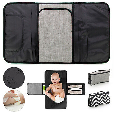Portable Foldable Washable Baby Waterproof Travel  Diaper Changing Mat Pad UK