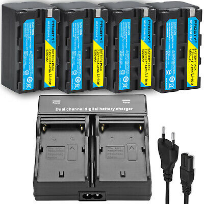 5200mah NP-F750 Battery + Dual Charger For Sony NP-F770 NP-F760 NP-F730 NP-F970